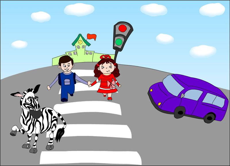 Рисунок по теме правила дорожного движения для 5 класса