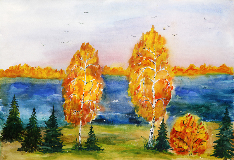 Рисунки для конкурса золотая осень