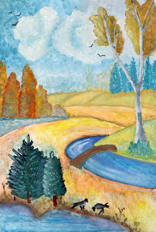 картинки на тему осень рисунки