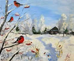 Картинки о зиме для школьников карандашом
