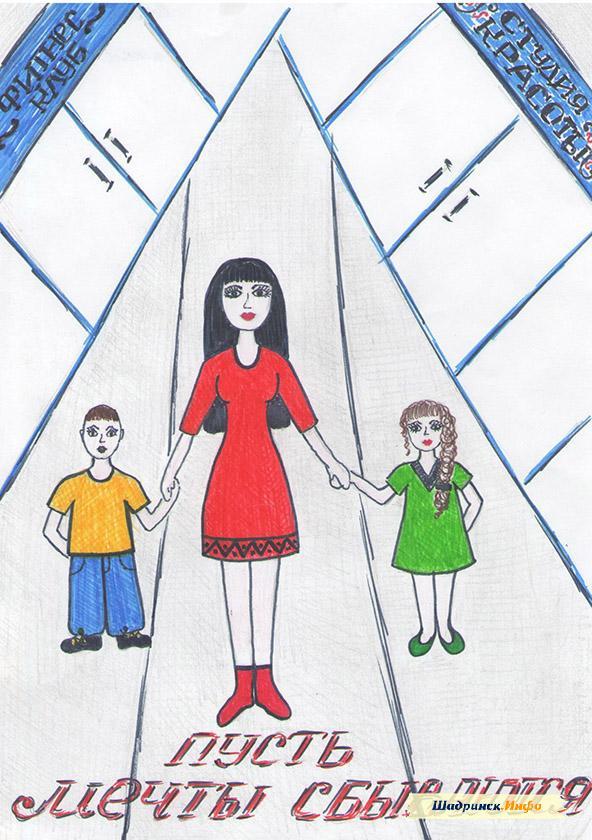 8 марта в детском саду рисунки